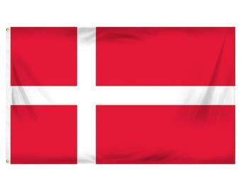 Denmark flag - 3 x 5 ft - Polyester