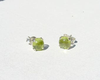 LOOPS d ear chips claw fact France stone Fine stone set 925 Silver Peridot gemstone gift precious door happiness chip green stone