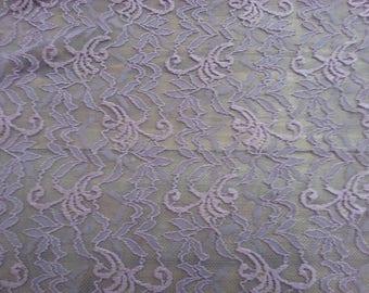 Beautiful cut of purple stretch lace