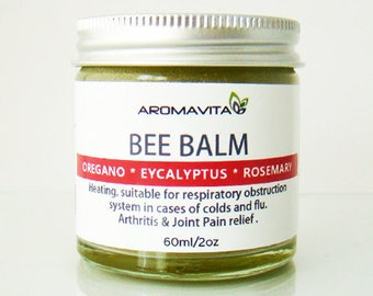 Oregano Bee Balm with Rosemary and Peppermint 100% Natural Herbal Salve