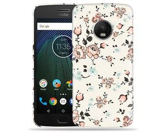 Motorola Moto G6 Plus Case - Motorola G6 Plus Case #Flowery Vines Up Cool Design Hard Phone Cover