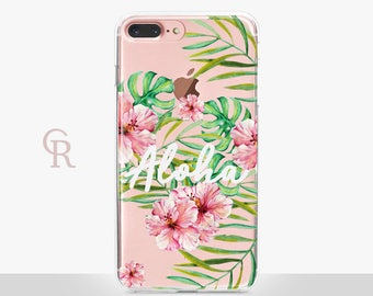 Aloha iPhone 7 Plus Clear Case - Clear Case - For iPhone 8 - iPhone X - iPhone 7 Plus - iPhone 6 - iPhone 6S - iPhone SE Transparent