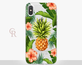 Pineapple iPhone X Clear Case For iPhone 8 iPhone 8 Plus - iPhone X - iPhone 7 Plus - iPhone 6 - iPhone 6S - iPhone SE - Samsung S8 iPhone 5