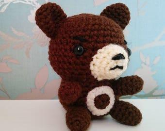 Crocheted Ursaring Pokemon Amigurumi Plushie