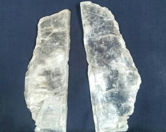 Twin Flames Lovers / Crystal / Selenite Slabs / Heart Chakra / Meditation Gemstone / Quartz Crystals / Chakra / Metaphysical Stones / White