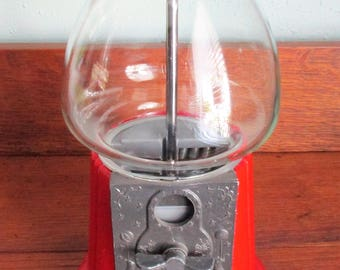 Vintage 1988 Red Gum Ball Machine