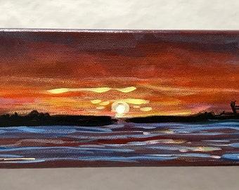 Florida Sunset acrylic painting
