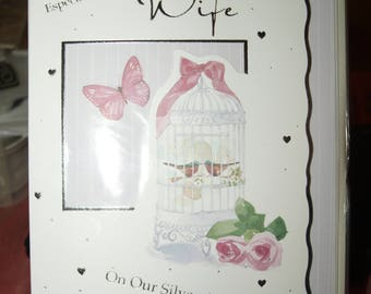 Especiall for you Wife on Our Silver Anniversary Card