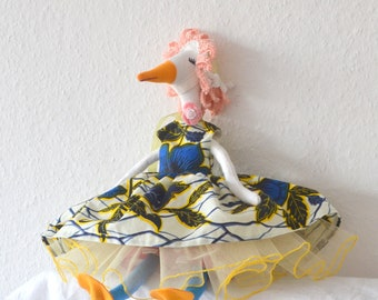 goose soft toy,goose,plush goose,easter goose,goose figurine, fabric doll, Hand-stitched rag doll,cloth doll,doll cloth
