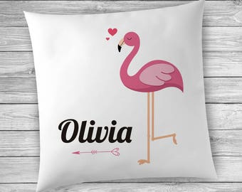 Name Pillow, Name Pillows for Girls, Personalized Pillow, Name Pillows, Girls Room Decor, Flamingo Decor, Name Pillow for Kids Room