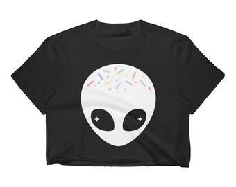 Alien Shirt   Pastel Grunge Top   Crop Top   Tumblr Shirt   Women's Clothing   Alien Clothes   UFO Tee   Goth