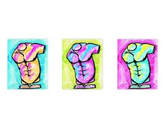 Printable Wall Art | Home Decor | Pop Art | Neon Statue Print Set