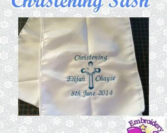 Personalised Christening Sash/Stole