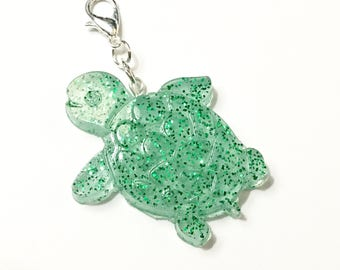 Resin Turtle Charm Perfect for Planner Charm, Zipper Pull, Purse Charm, Key Chain and more!