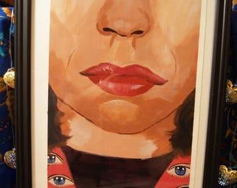 Faraway Eyes - Painting