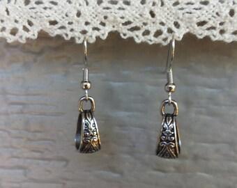 Handmade loop earrings, surgical steel.