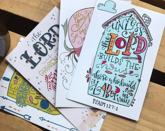 Scripture journaling cards (set of 4)