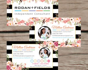 PRINTABLE Rodan and Fields Business Cards, Rodan and Fields Punch Cards, Rodan + Fields Independent Consultant, Digital Files RF016