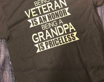 Being a Veteran is an Honor • Being a Grandpa is Priceless