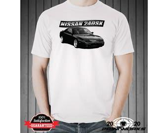 Nissan 240SX Custom Race Car T-Shirt 200SX S13 Silvia Japanese Sports Car Drifting