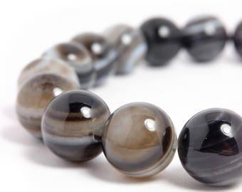 10mm Eye Agate Stretch Bracelet