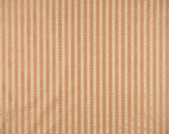 SCALAMANDRE SHIRRED STRIPE Silk Taffeta Fabric 10 Yards Peach Beige