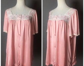 Vintage lingerie / vintage nightie / vintage nightgown / vintage negligee / vintage sleepwear / pajamas / pinup lingerie 8186