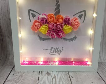 Unicorn frames with lights