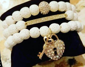 Ivory Lava Beads 10mm round