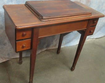 singer sewing machine cabinet empty unknown model modify to fit 221 301 av wood sewing cabinet