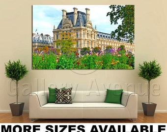 Wall Art Giclee Canvas Picture Print Gallery Wrap Ready to Hang France Paris Louvre Palace 60x40 48x32 36x24 24x16 18x12 3.2
