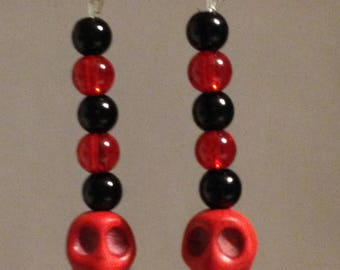 Red and Black Skulls