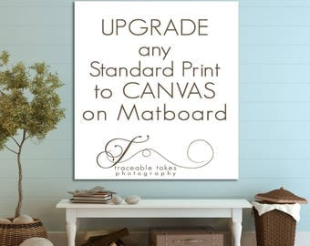 Upgrade any Paper Print to a Canvas Print on Matboard