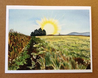 Appalachian Trail Greeting Card - Pennsylvania Farm Country -  Blank Fine Art Note Card