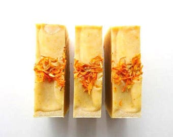 UNSCENTED Calendula Soap, healing soap, gentle soap, natural soap, handmade soap, sensitive soap with calendula