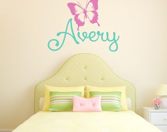 Butterfly Wall Decal Etsy - Custom vinyl stickers for girls