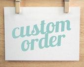 Custom Order for Emma Du
