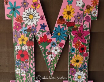 Wildflower Wood Letter M
