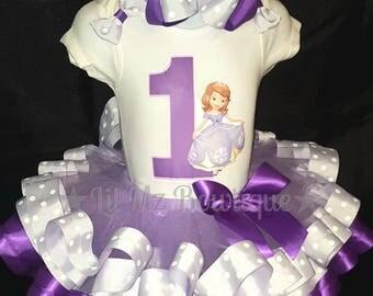 Sofia tutu set, sofia the first birthday outfit, princess sofia tutu, sofia tutu outfit, sofia 1st birthday tutu, princess tutu, tutu outfit