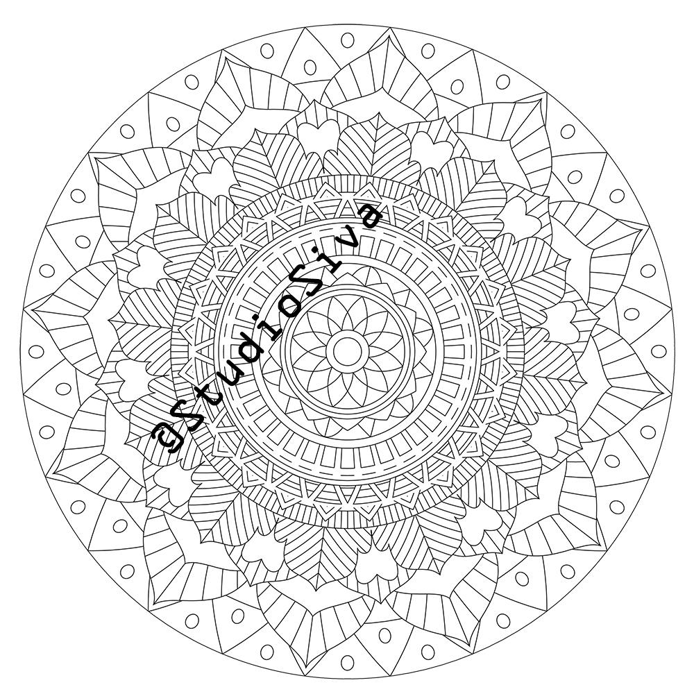 Intricate Tribal Mandala Coloring Page Instant Download PDF