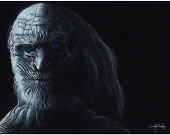 A4 Game of Thrones White Walker Giclee print