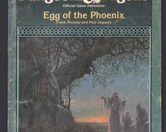 Vintage 1987 TSR AD&D Advanced Dungeons and Dragons Module : I12 Egg Of The Phoenix (FLAWED)