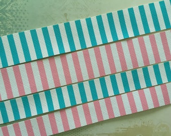 2 sizes! 2 colours! Cute Pink and White or Blue and White stripe Choker