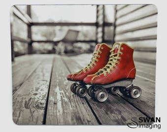 Mouse Pad - Cool Roller Skates design - mousepad - mouse mat - Retro Skates - Vintage Skates - Roller Derby gift