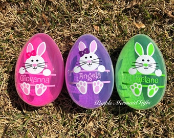 Personalized Giant Easter Eggs, Kids Jumbo Easter Eggs,Large Custom Eggs, Easter Containers
