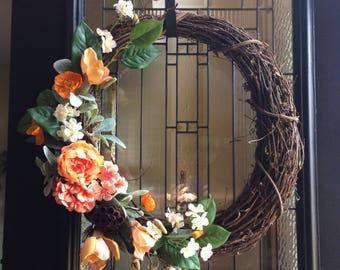 Grapevine Garden Wreath