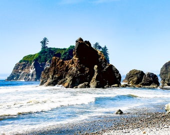 Ruby Beach, Olympic National Park, Washington, Pacific Northwest, Beach, Nature, Washington state, Rocky Beach, Blue, Ocean