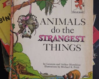 Animals do the Strangest Things, Hornblow, vintage childrens book