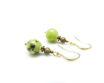 Retro chic earrings ~; ~ Chrysocolla. ~ ~