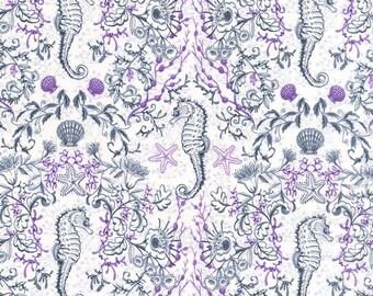 Sealife by Michael Miller - Kelp Mates Gray - Cotton Woven Fabric